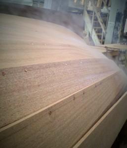 Steaming mahogany planking