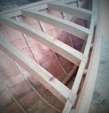 Dinghy deck beams