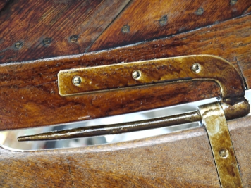Rudder pintle and gudgeon