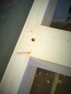 Dovetailed hatch beam