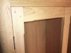 Pegged locker door joint