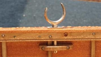 Rowlock on mahogany dinghy