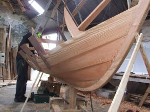 Sula larch clinker planking