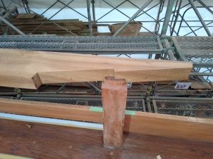 Scarf joint in rail