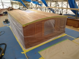 Fibreglassing coachroof